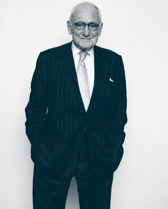 Robert A.M. Stern, Founder of Robert A.M. Stern Architects in black and white